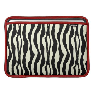 Black & White Zebra Stripes Pattern MacBook Sleeve