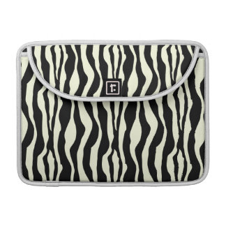 Black & White Zebra Stripes Pattern Sleeve For MacBook Pro