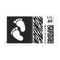 Black & White Zebra Stripes Postage