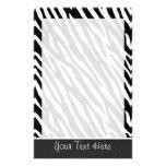 Black & White Zebra Stripes Stationery Design