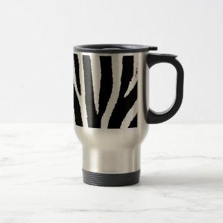 Black & White Zebra Stripes Travel Mug