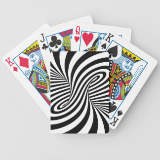BLACK WHITE ZEBRA SWIRLS PATTERNS OPTICAL ILLUSION BICYCLE PLAYING CARDS