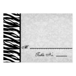 Black White Zebra Wedding Paper Products Business Card Templates