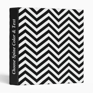 Black & White Zig Zag 1 Binder