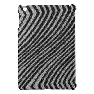 Black & White Zig Zag Pattern iPad Mini Covers