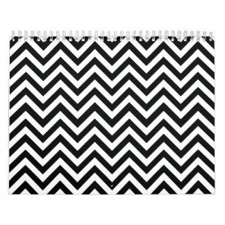 Black & White zigzag Wall Calendar