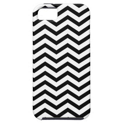 Black & White Zigzag Pattern iPhone 5 Case