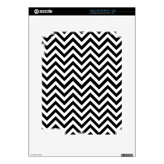 Black & White Zigzag Pattern Skin For The iPad 2