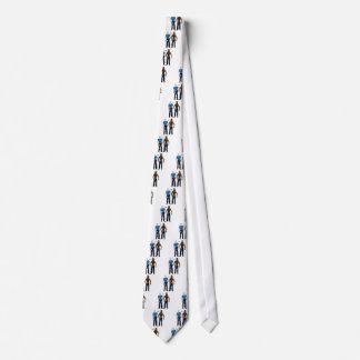 Black&WhiteCop Neck Tie