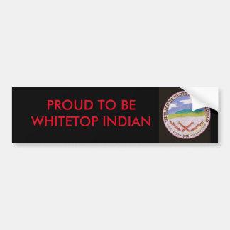 Black Whitetop Bumper Sticker Car Bumper Sticker