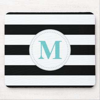 Black Wide Stripe Mouse Pad