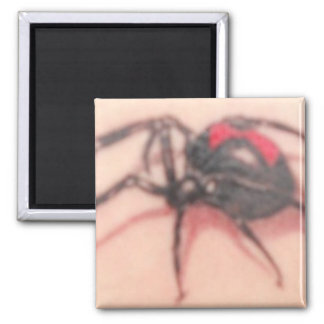 BLACK WIDOW 2 INCH SQUARE MAGNET