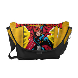 Black Widow Action Comic Graphic Courier Bag