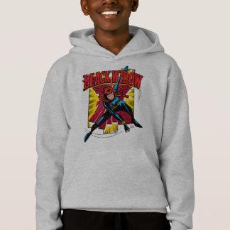 Black Widow Action Comic Graphic Hoodie