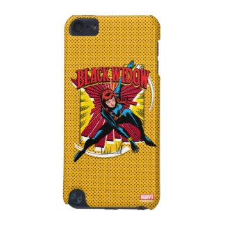 Black Widow Action Comic Graphic iPod Touch (5th Generation) Case