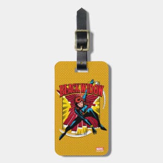 Black Widow Action Comic Graphic Luggage Tag