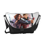 Black Widow and Hawkeye Watercolor Graphic Courier Bags