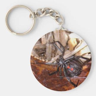Black Widow Basic Round Button Keychain