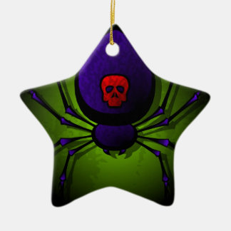 Black Widow Ceramic Ornament