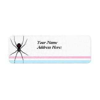Black Widow design Label