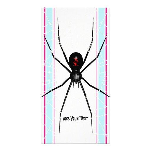 Black Widow design Photo Card