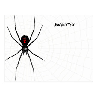 Black Widow design Postcard