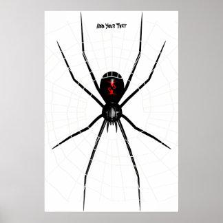 Black Widow design Poster