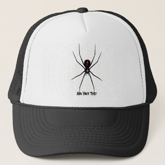 Black Widow design Trucker Hat