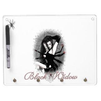 Black Widow Dry-erase board Keychain holder (horiz