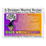 Black Widow Halloween Martini Recipe Card