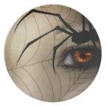 Black Widow Melamine Plate