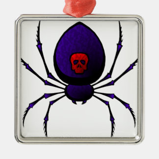 Black Widow Metal Ornament