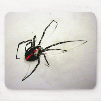 Black widow mouse pad