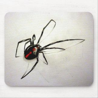 Black widow mouse pad