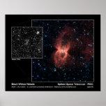 Black Widow Nebula – Spitzer Space Telescope Posters