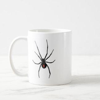 black widow on your coffee mug