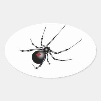 Black Widow Oval Sticker