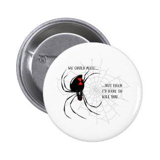 Black Widow Pinback Button