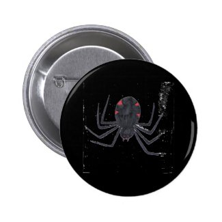 Black Widow Pinback Button