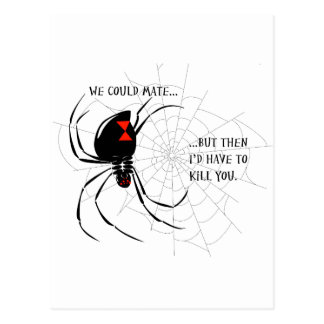 Black Widow Postcard