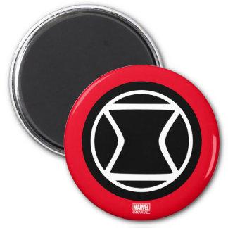 Black Widow Retro Icon 2 Inch Round Magnet