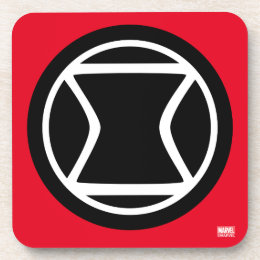 Black Widow Retro Icon Beverage Coaster