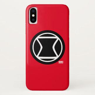 Black Widow Retro Icon iPhone X Case