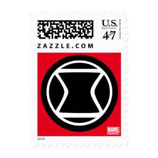 Black Widow Retro Icon Postage