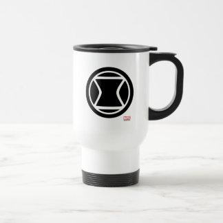 Black Widow Retro Icon Travel Mug
