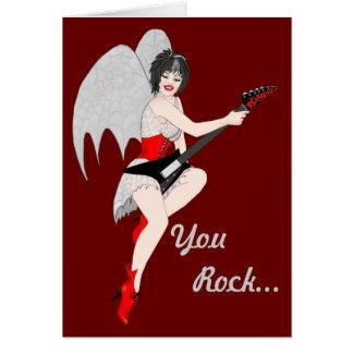Black Widow Rock Greeting Cards