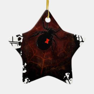 Black Widow (Signature Design) Ceramic Ornament