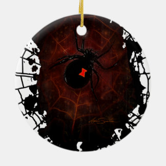 Black Widow (Signature Design) Double-Sided Ceramic Round Christmas Ornament