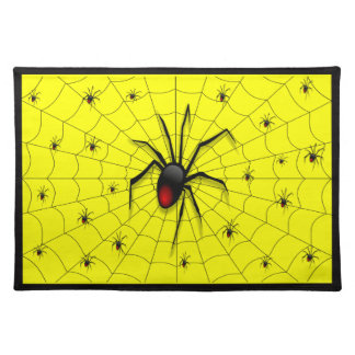 Black Widow Spider and Babies - Placemat
