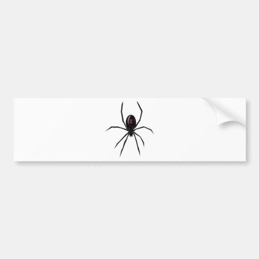 Black WIdow Spider Bumper Stickers